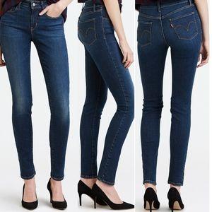 Levi's Classic Mid Rise Dark Wash Skinny Jeans 4L